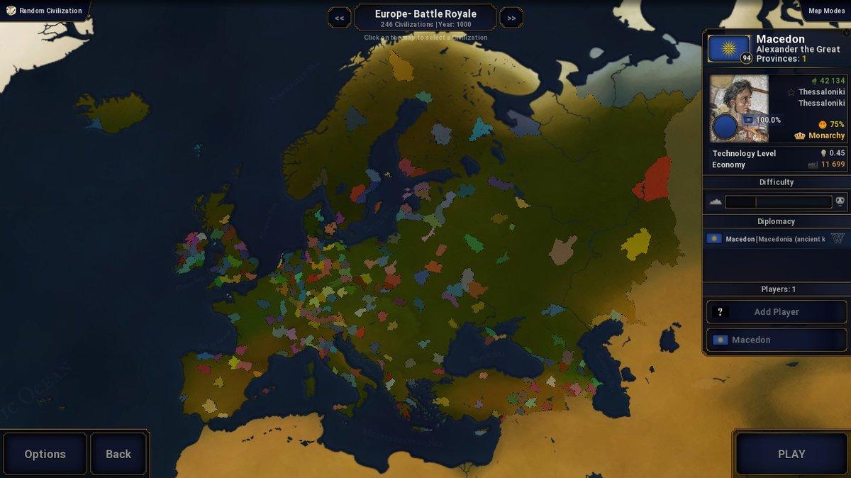 Battle Royale Europe - Scenarios - Age of Civilizations