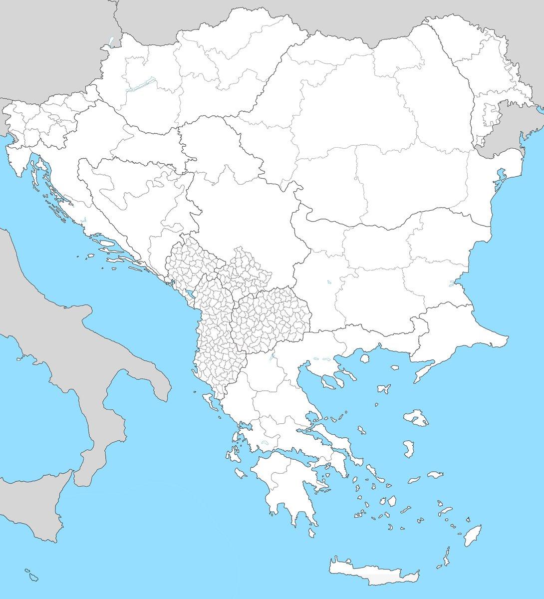 Balkan Big Map (4500+ provinces)