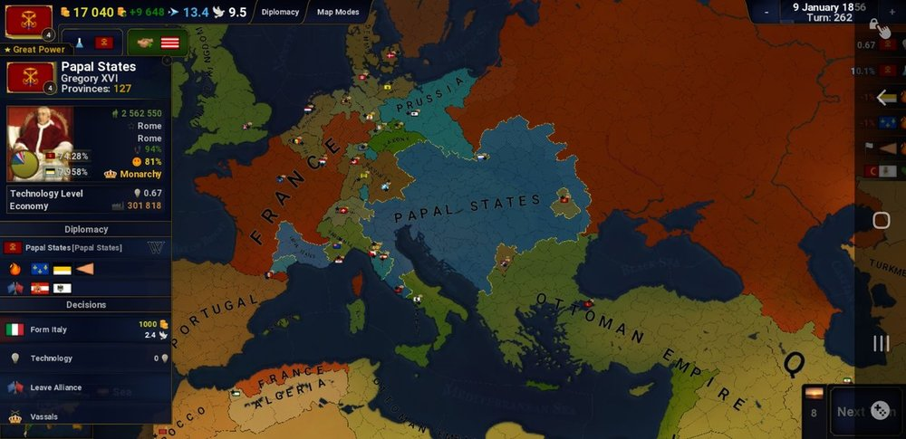 Papal states, victorian age (Blood before wealth)