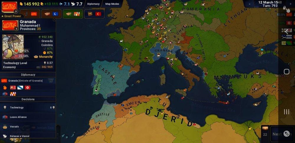 Granada,1400 AD (Wealth over blood)